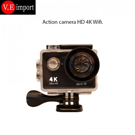 Action kamera 4K Ultra HD Svart