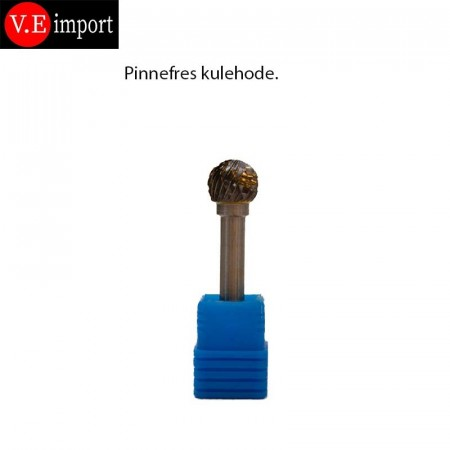 Carbid Kuleform pinnefres Double-cut 12mm