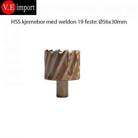 HSS Kjernebor 30mm boredybde