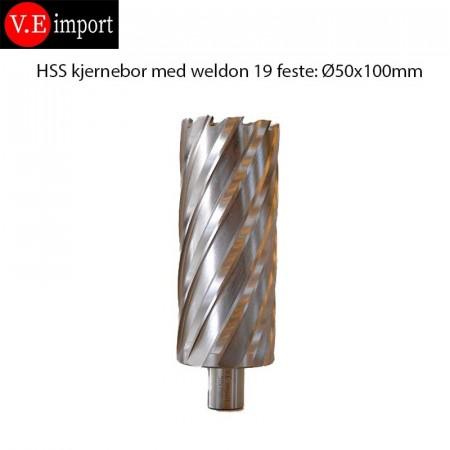 HSS Kjernebor 100mm boredybde