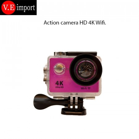 Action kamera 4K Ultra HD Rosa