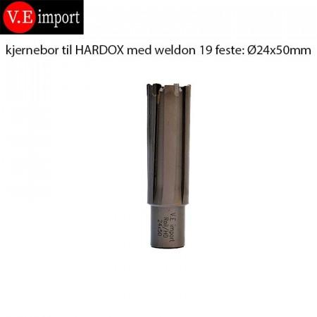 Kjernebor til Hardox/Rail