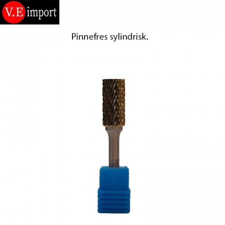 Carbid Sylindrisk pinnefres Double-cut 12mm