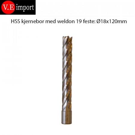 HSS Kjernebor 120mm boredybde