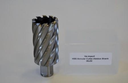 HSS Kjernebor 50mm boredybde